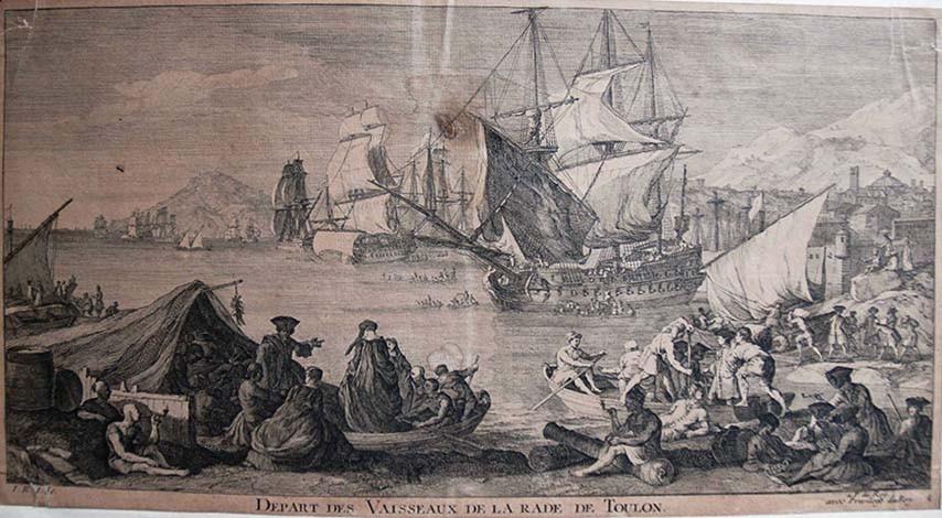 Départ des vaisseaux de la rade de Toulon