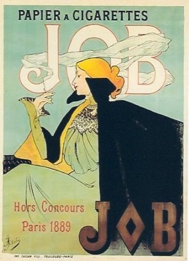 Affiche pour le papier à cigarette JOB