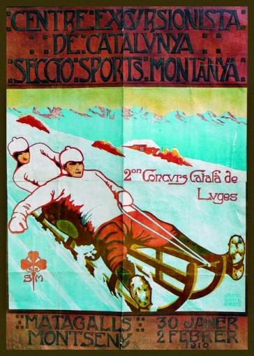 Centre Excursionista de Catalunya. Seccio sports montanya. IIe concours catala de luges. 30 janer-2 fébrer 1910
