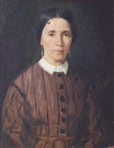 Portrait de la mère de l'artiste