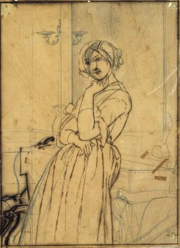 Etude pour Le Portrait de la comtesse d'Haussonville (ensemble de la composition)