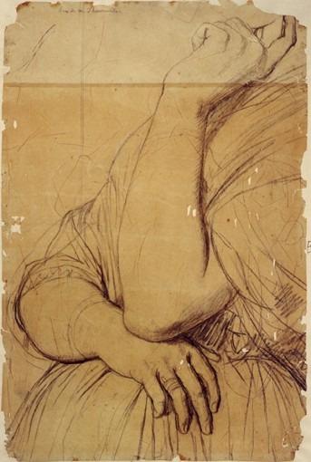 Etude pour Le Portrait de la comtesse d'Haussonville (ses bras)