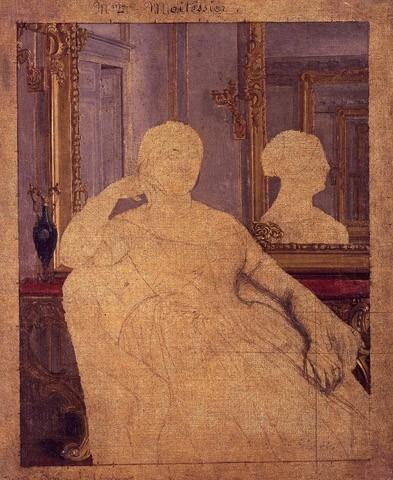 Etude pour Le Portrait de Madame Moitessier assise