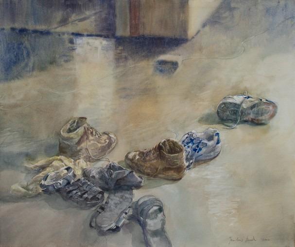 Chaussures au sol