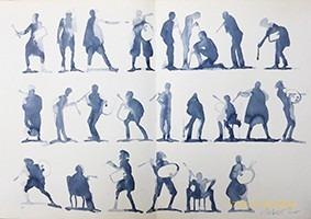 TRAVAIL DE MILTON GLASER M'AYANT INSPIRE LES SIHOUETTES DES ORIGINES.