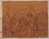 Etude pour la tapisserie Une scène de tournoi à la fin du XIVe siècle