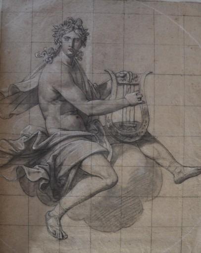 Apollon jouant de la lyre Figure pour un rideau de scène au théâtre du Capitole