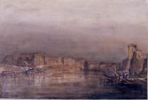 Vue de Toulouse avec le pont de la Daurade et le Pont neuf