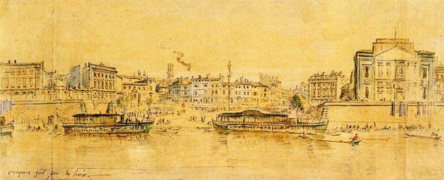 Vue du port de la Daurade, à Toulouse.