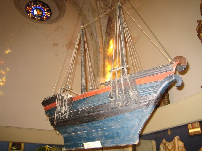 Bâteau ex-voto des charpentiers de batellerie de Moissac