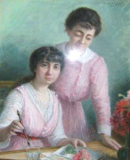 Autoportrait avec sa soeur
