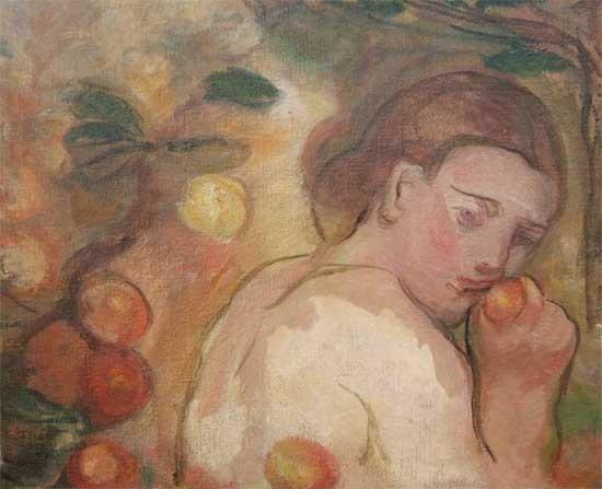 Jeune femme à la pomme