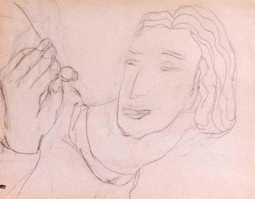 Portrait de femme à la bague