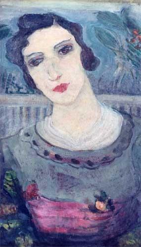 Portrait de femme à la ceinture rouge