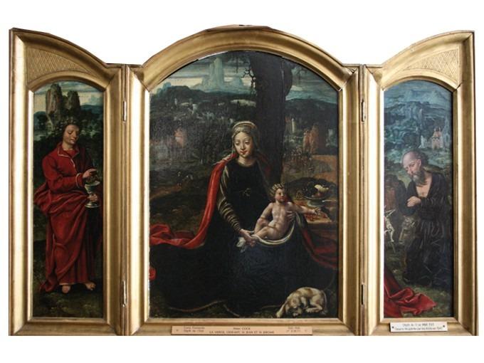 La Vierge, l'Enfant, St- Jean l'Evangéliste et St- Jérôme