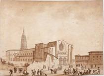 La basilique Saint-Sernin vue depuis la place Saint-Raymond