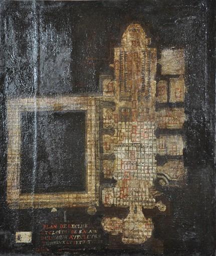 Plan au sol de la cathédrale Saint-Alain et de son cloître