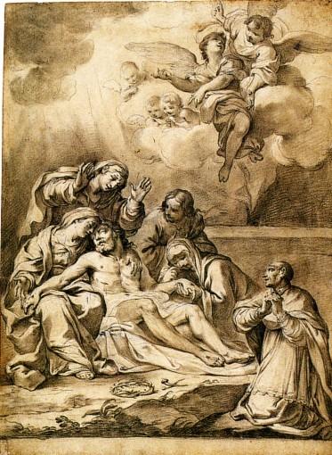 La Déploration du Christ avec saint Charles Borromée.